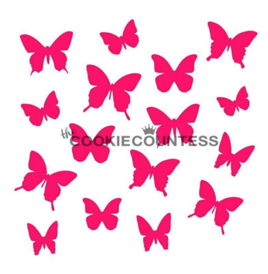 Butterflies Stencil by Cookie Countess