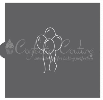 Birthday Balloons PYO Cookie Stencil