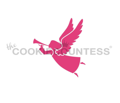 Angel Silhouette Stencil by Cookie Countess