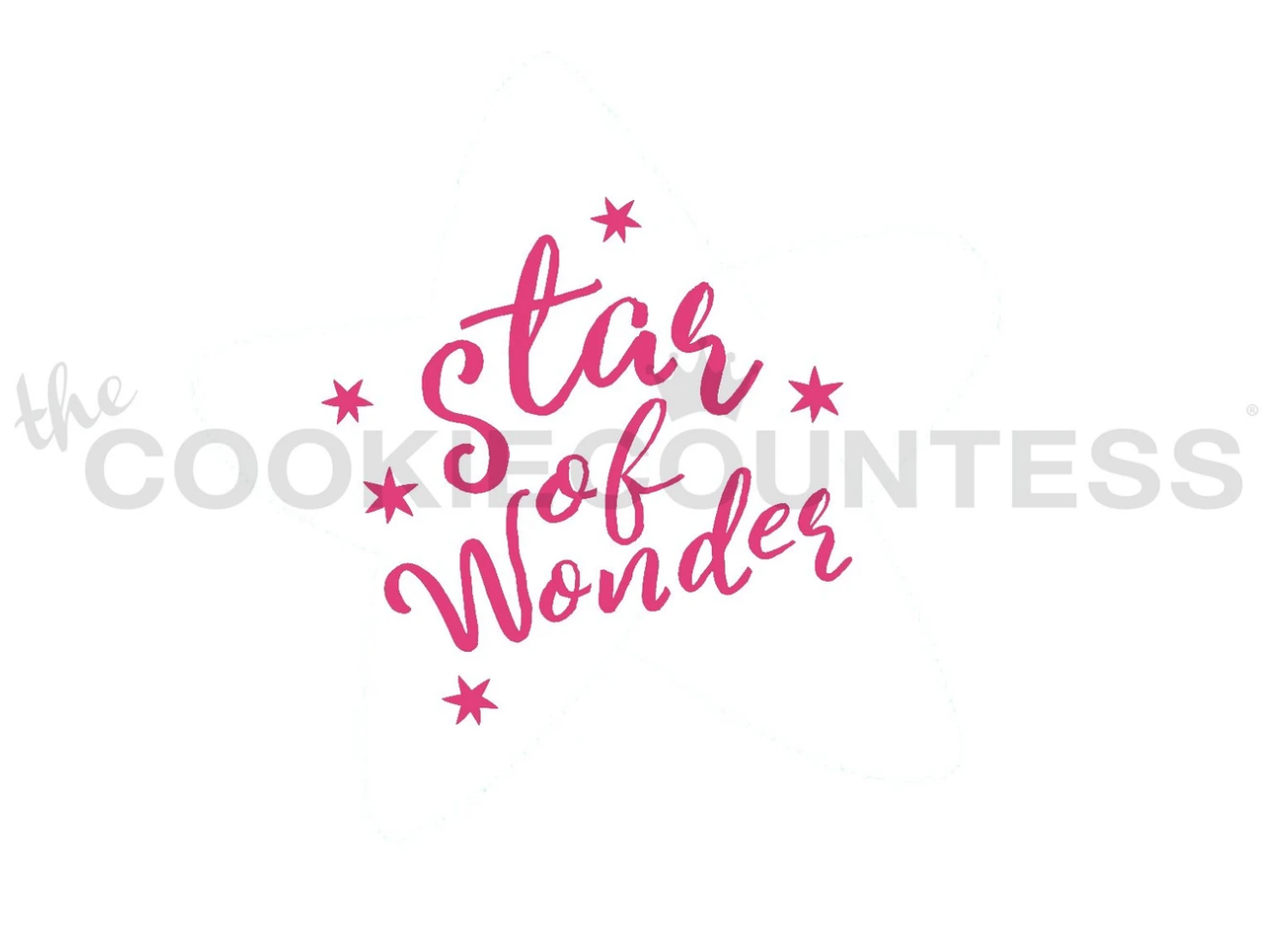 Star of Wonder Stencil by Cookie Countess