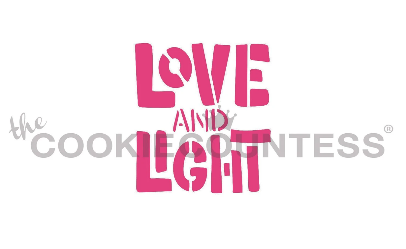 Love and Light Stencil by Cookie Countess