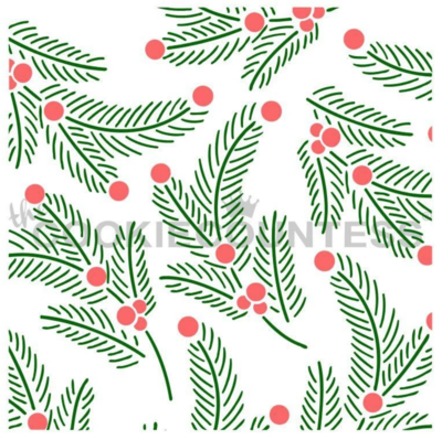 2 Piece Foliage Stencil by Cookie Countess