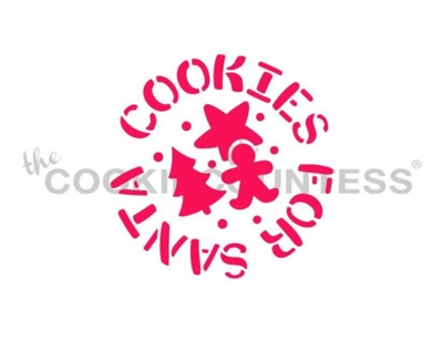 Cookies For Santa Round Stencil by Cookie Countess
