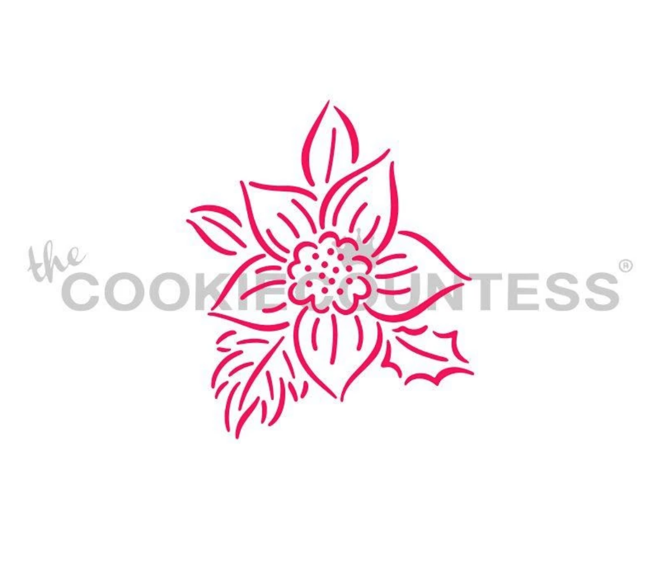 Poinsettia PYO Stencil by Cookie Countess