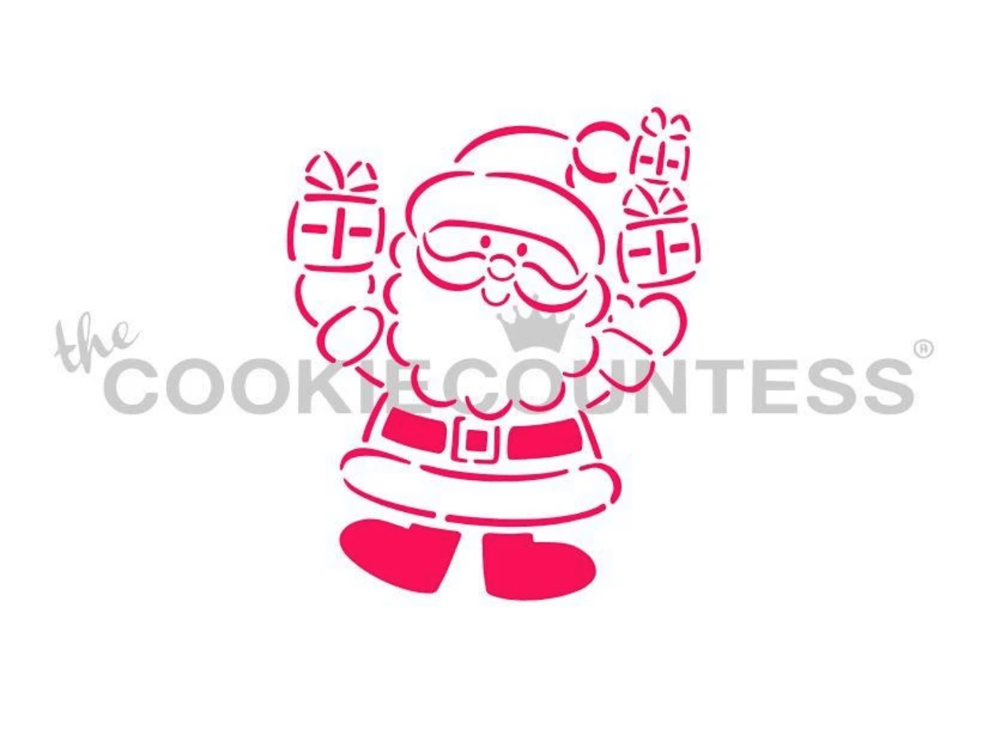 Santa Gift Delivery PYO Stencil by Cookie Countess