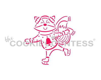 Fox On Skates PYO Stencil by Cookie Countess