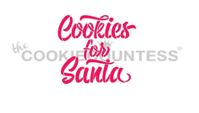 Cookies For Santa Stencil by Cookie Countess