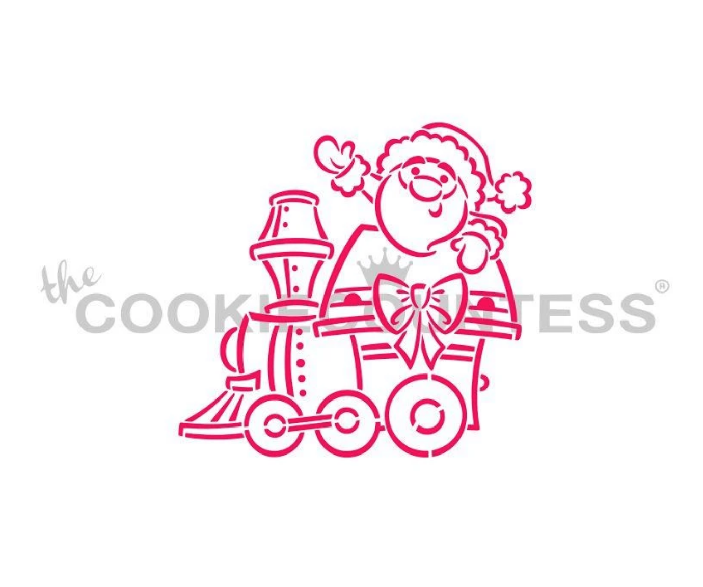 Christmas Santa Train Engine PYO Stencil by Cookie Countess