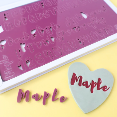 SWEET STAMP - MAPLE SET - UPPERCASE, LOWERCASE, NUMBERS & SYMBOLS