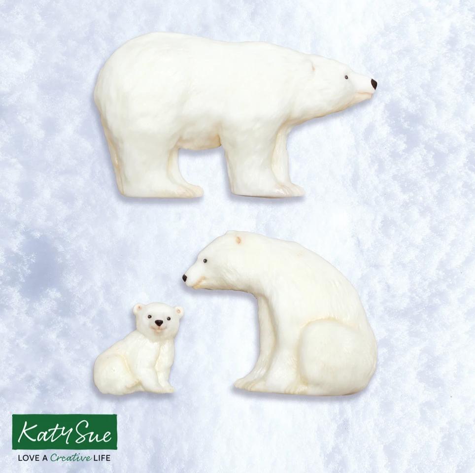 Polar Bear Family Silicone Mould