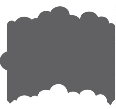 Cloud Cookie Stencil Edger