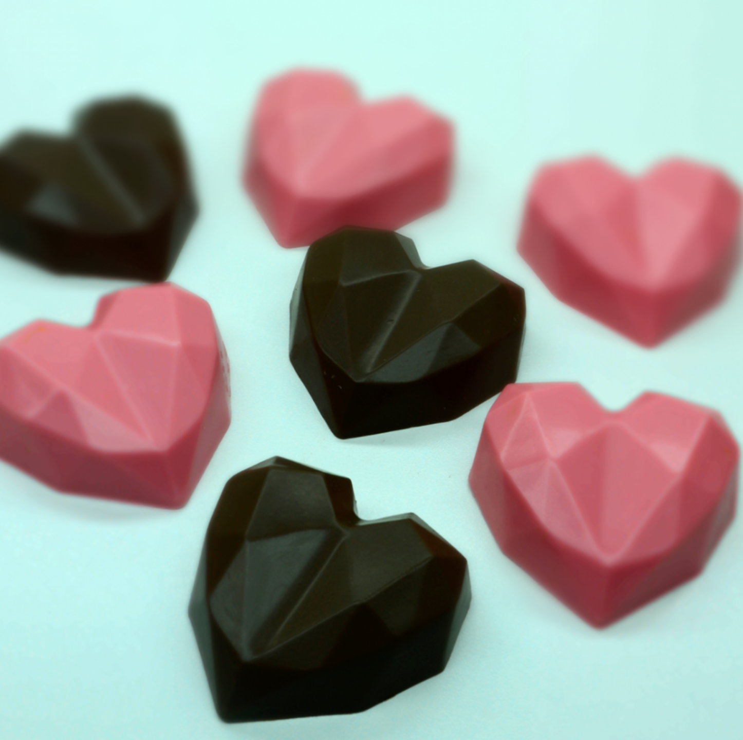 Faceted Heart Truffle - 3 Part Mold - 10 PER ORDER ONLY - PRE-ORDER - Arriving Jan. 19th