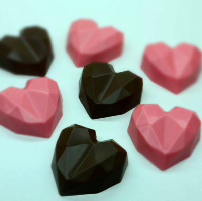 Faceted Heart Truffle - 3 Part Mold