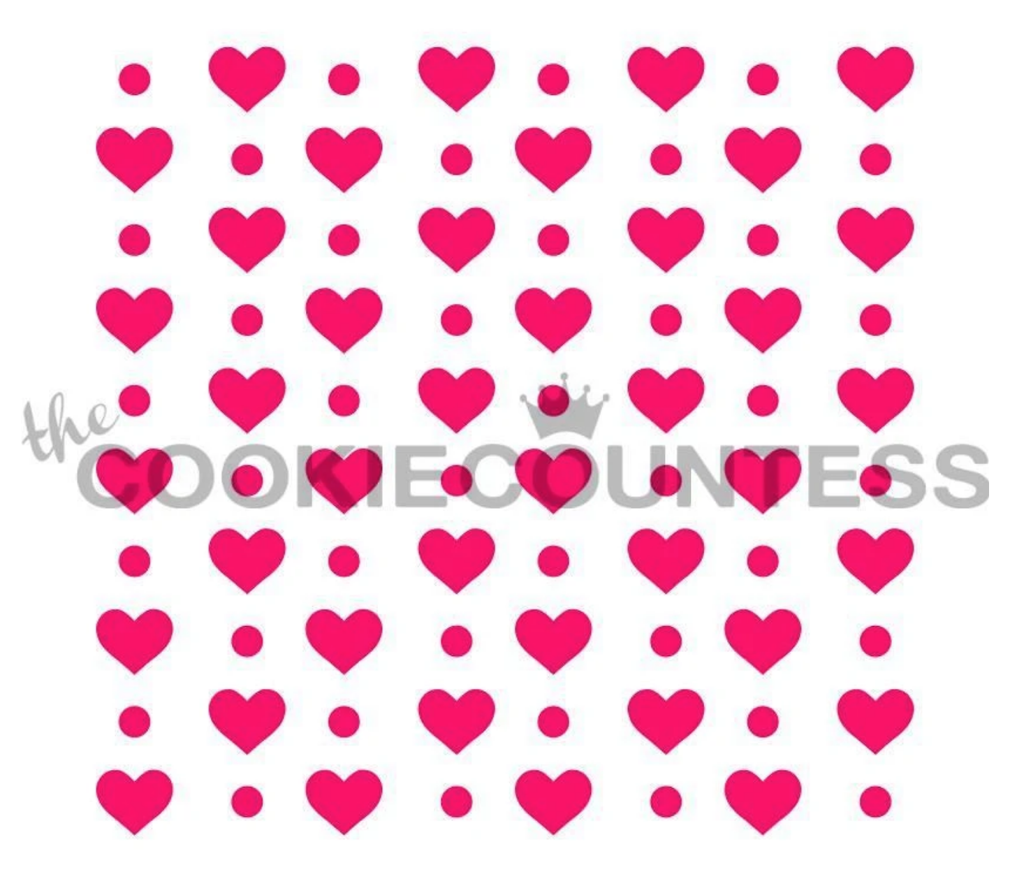Hearts and Dots Stencil by Cookie Countess