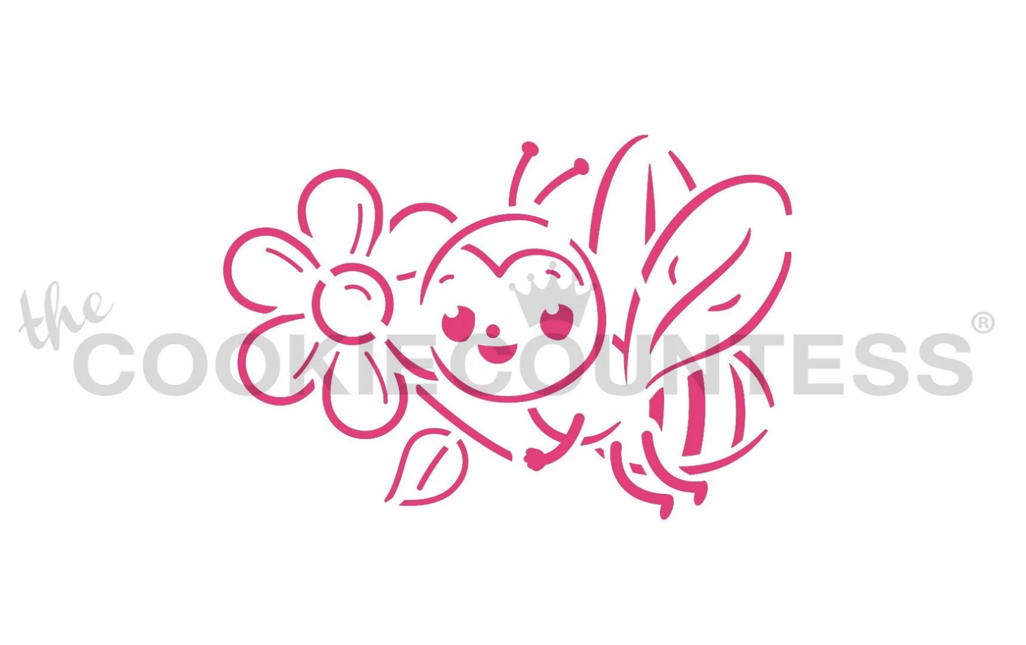 Bee PYO Stencil by Cookie Countess
