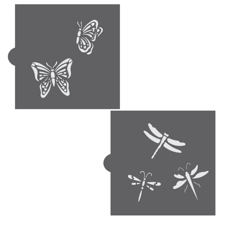 Butterflies & Dragonflies Accent Cookie Stencil