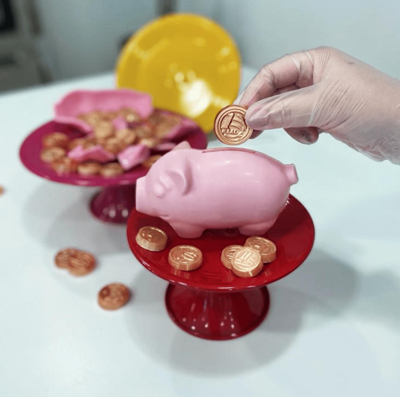 Piggy Bank - 3 Part Mold - PRE-ORDER - Arriving Jan. 19th