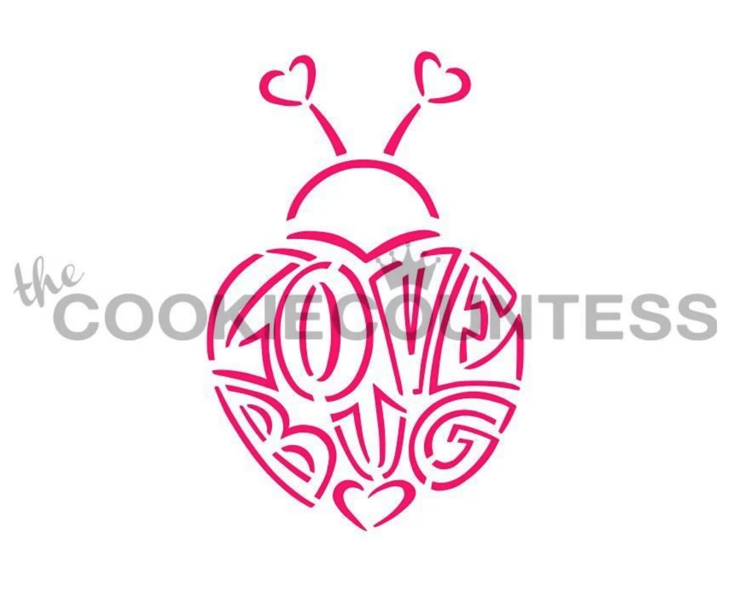 Love Bug PYO Stencil by Cookie Countess