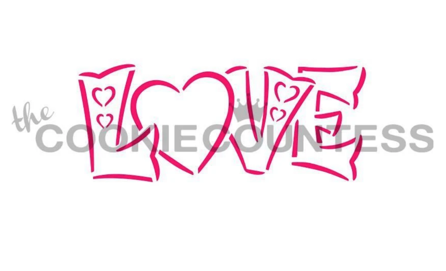 Love Word PYO Stencil by Cookie Countess