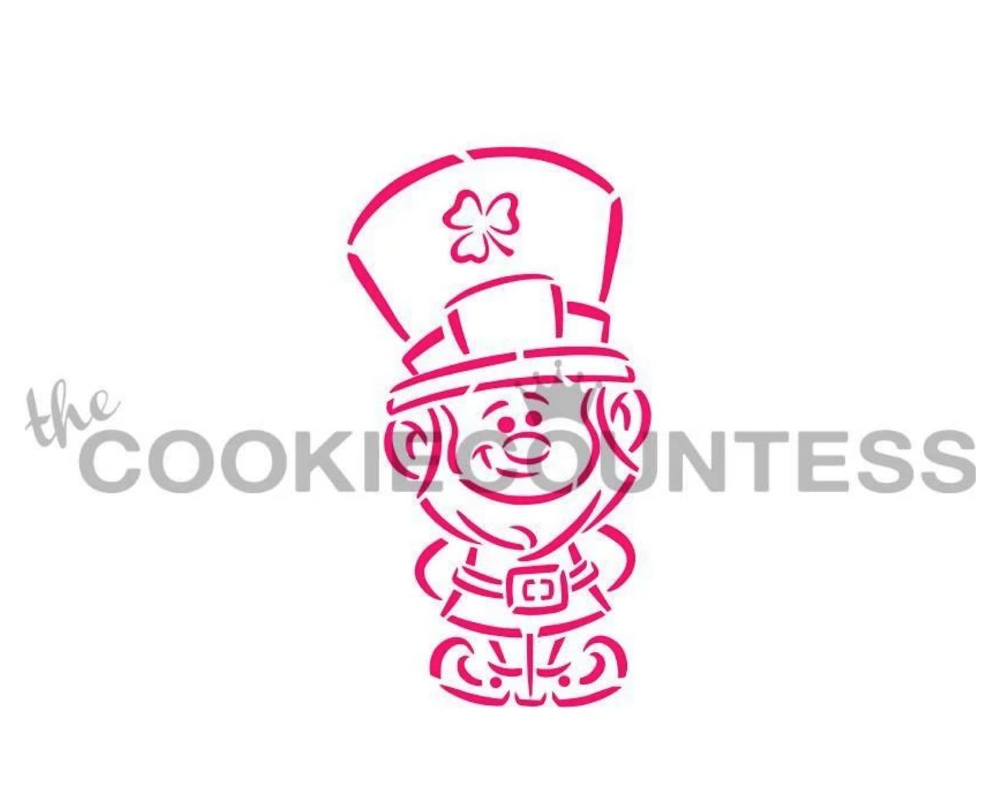 Leprechaun PYO Stencil by Cookie Countess