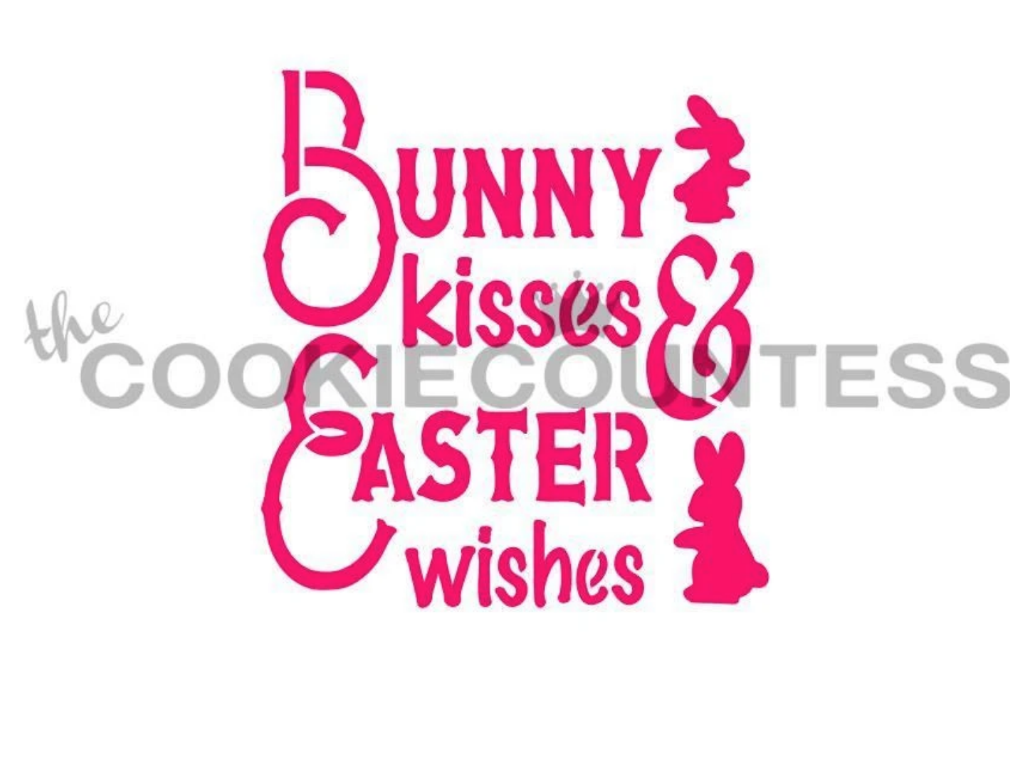 Bunny Kisses Stencil by Cookie Countess