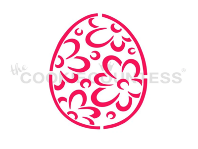 Easter Egg Flowers PYO Stencil - By Cookie Countess