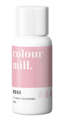 Oil Based Colouring 20ml Rose - Color Mill