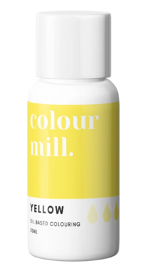 Oil Based Colouring 20ml Yellow - Color Mill
