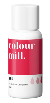 Oil Based Colouring 20ml Red - Color Mill