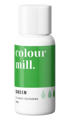 Oil Based Colouring 20ml Green - Color Mill