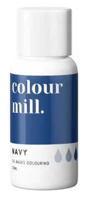 Oil Based Colouring 20ml Navy - Color Mill