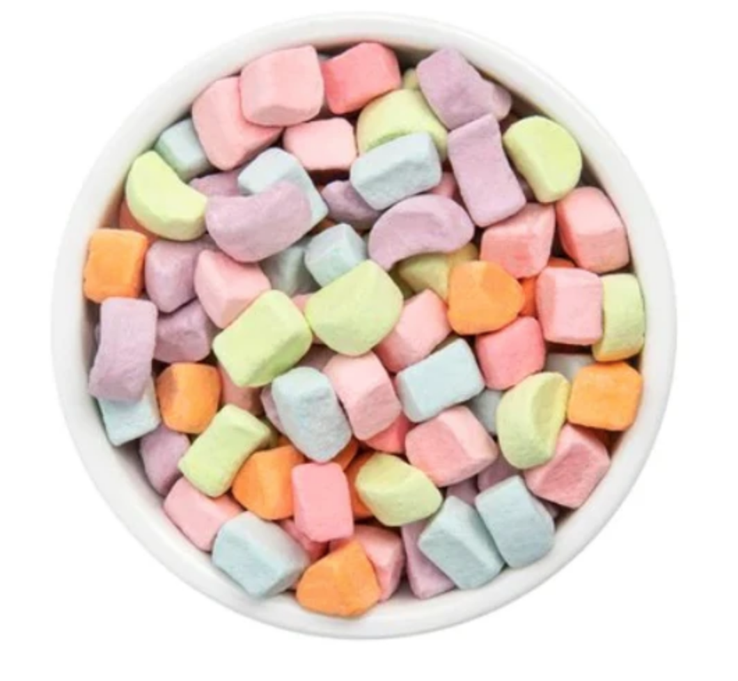 Dehydrated Mini Colored Marshmallows