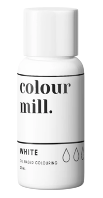 Oil Based Colouring 20ml White - Color Mill