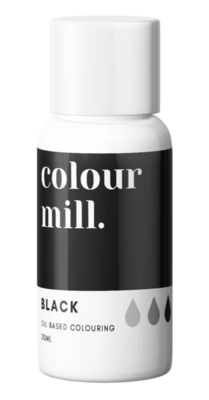 Oil Based Colouring 20ml Black - Color Mill