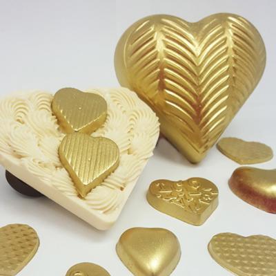 Plume Textured Heart - 200g - 3 Part Mold - PRE-ORDER - Arriving Feb. 5