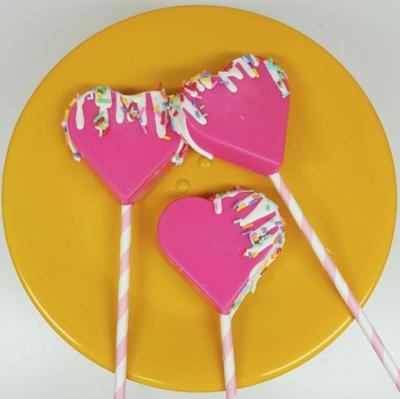 Heart Lollipop - 3 Part Mold