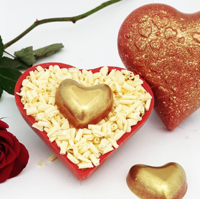 Textured Heart Heart - 200 Grams - 3 Part Mold - PRE-ORDER - Arriving Feb. 5
