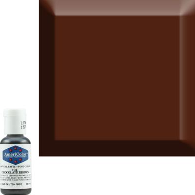 Chocolate Brown Americolor 0.75 oz Soft Gel Paste
