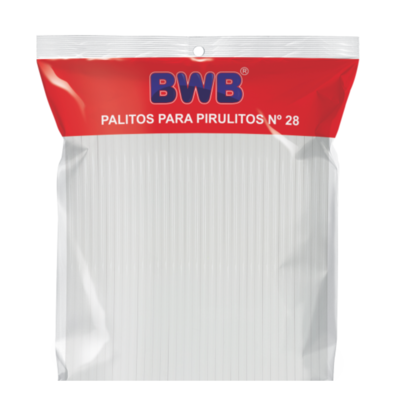 White Plastic Lollipop Sticks - Large