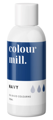 Oil Based Colouring 100ml Navy - Color Mill