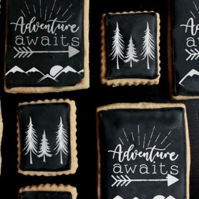 Adventure Awaits 2 Piece Cookie Stencil Set