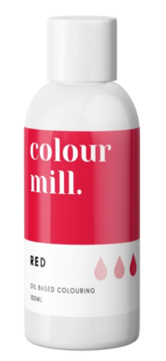 Oil Based Colouring 100ml Red - Color Mill