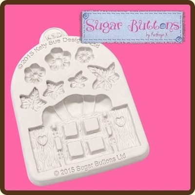 Sugar Buttons - Enchanted Window & Flowers