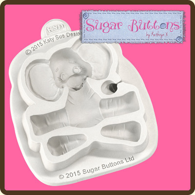 Sugar Buttons - Baby Elephant