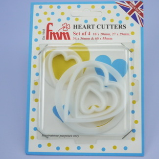FMM Heart Cutters - Set of 4