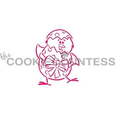Chick and Egg Stencil by Cookie Countess