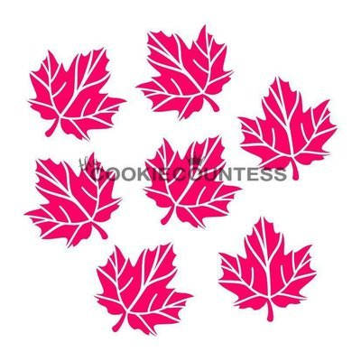 Maple Leaves Stencil by Cookie Countess