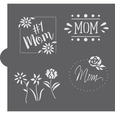 Mother's Day Basic Words Stencil