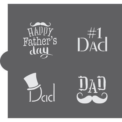 Father's Day Word Stencil