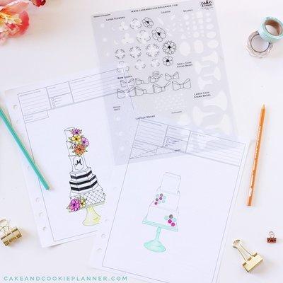 Elements Cake Sketching Templates v 2.0
